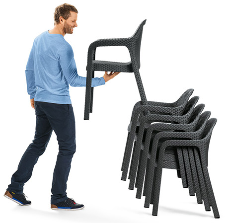 Stuhl stapelbar